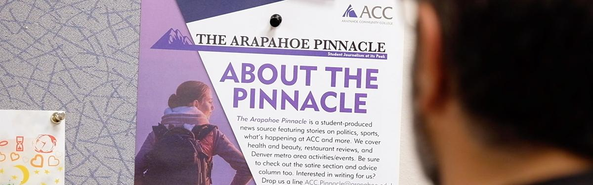 Arapahoe Community College About the Pinnacle sign
