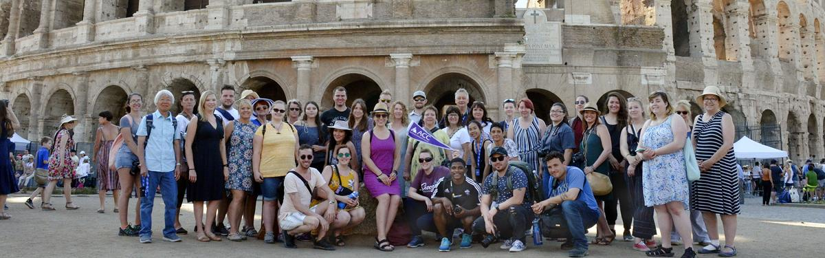 ACC study abroad students in Italy