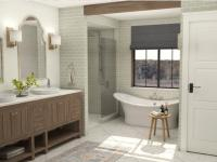 Bathroom design by Dana Hoffman.