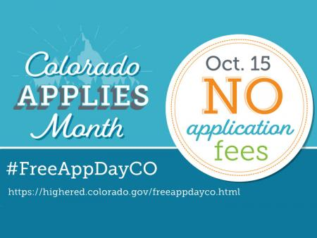 Colorado Free Application Day graphic