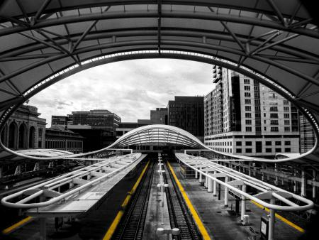 Untitled (Selective Color, Union Station)