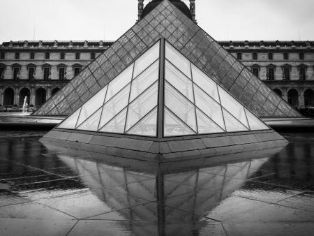 Kathie C Ballah - The Pyramid at the Louvre