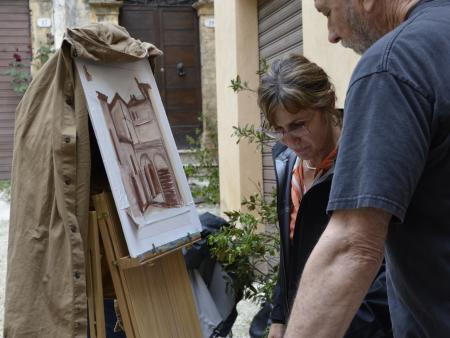 Painting in a Spoleto -  Italy 2014