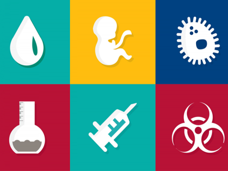 Public Health banner - icons related to health