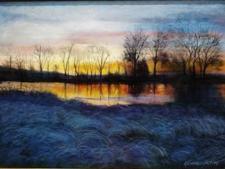 Diane E Edwards - Sunrise Over the Swamp, ND
