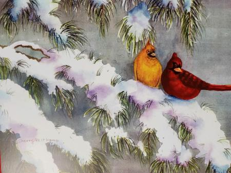 Sherry Veltkamp - Cardinals in the Winter Time