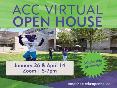 ACC Virtual Open House - January 26 and April 14