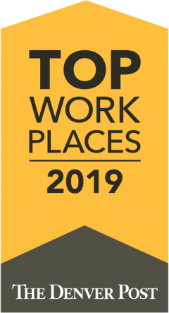 The Denver Post Top Work Places 2019 logo