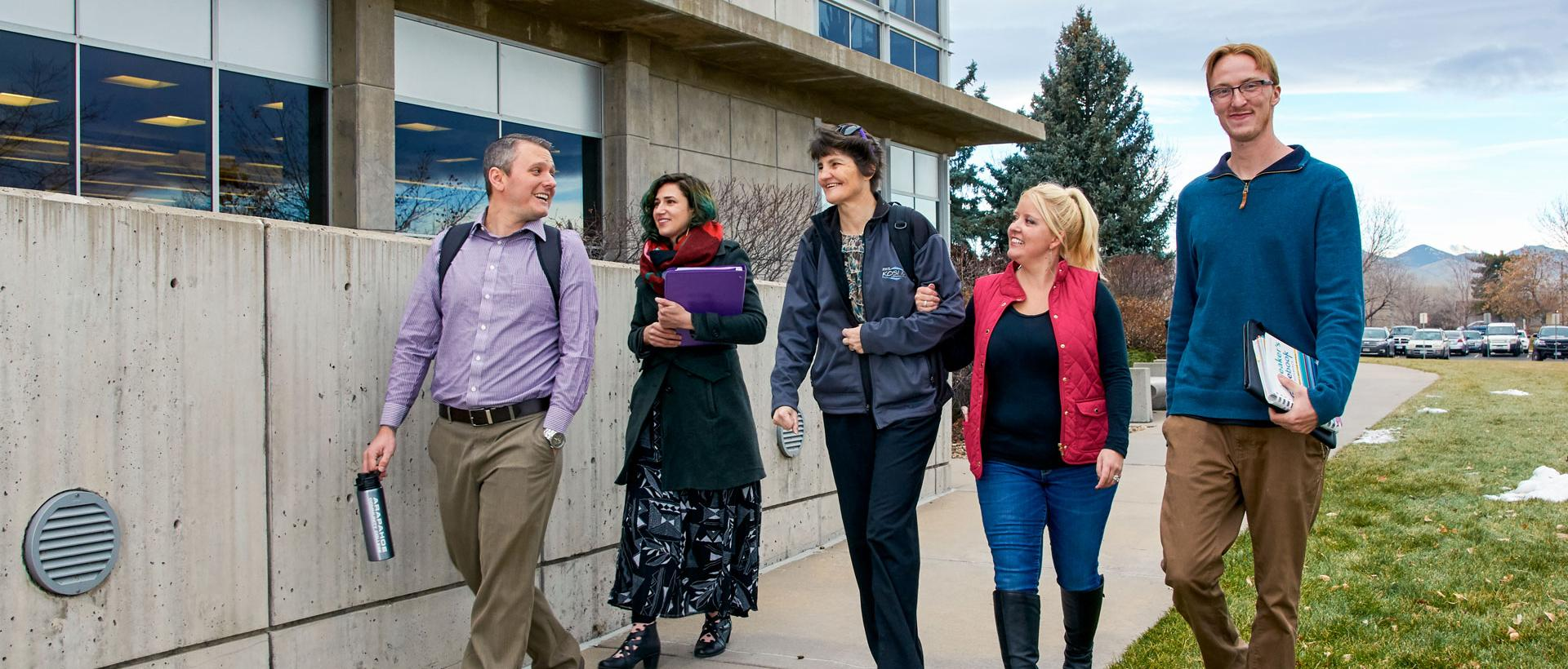 ACC students and staff outside of Littleton Campus