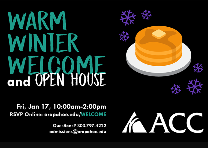 Warm Winter Welcome and Open House graphic