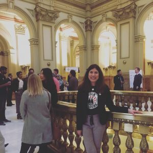 Lucy Daberkow at the Capitol